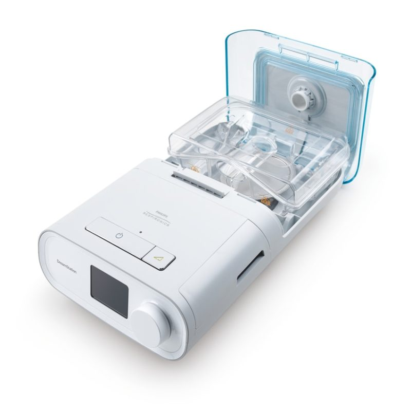 Philips Respironics Dreamstation bipap pro sleep apnea machine with humidifer above