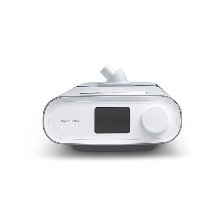 Philips Respironics Dreamstation cpap pro sleep apnea machine with humidifer front